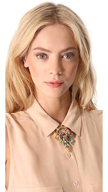 Elizabeth Cole Crystal Pendant Necklace