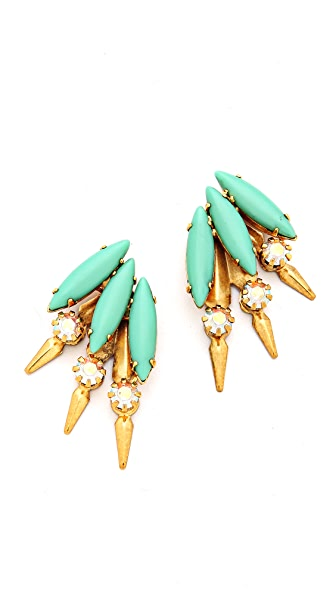 Elizabeth Cole Petite Mohawk Earrings
