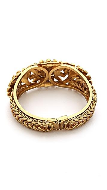 Elizabeth Cole Stone Hinge Bracelet