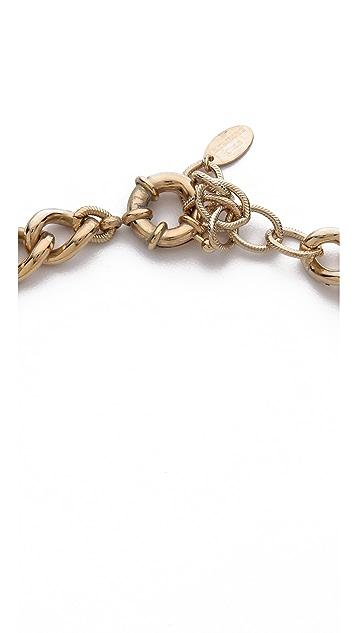 Elizabeth Cole Curled Plate Collar Necklace