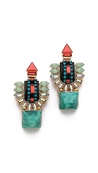 Elizabeth Cole Large Drop Earrings