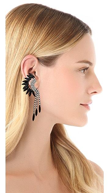 Elizabeth Cole Fringe Mohawk Earrings