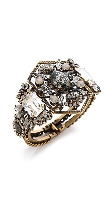 Elizabeth Cole Art Deco Hinge Bracelet