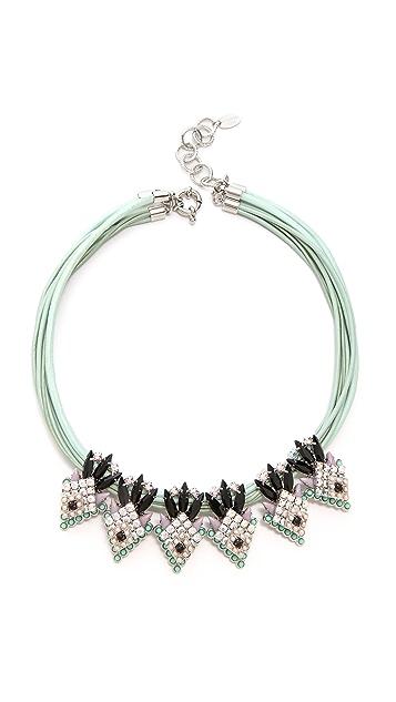 Elizabeth Cole Navette Station Necklace
