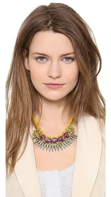 Elizabeth Cole Mexican Opal Bib Necklace