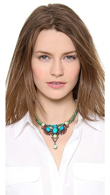 Elizabeth Cole Dangling Pear Necklace