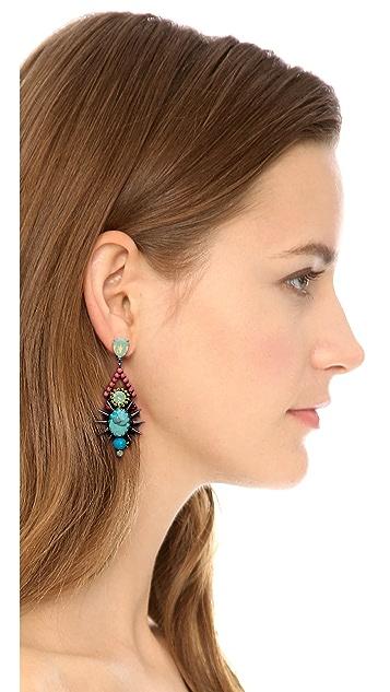 Elizabeth Cole Turquoise Drop Earrings