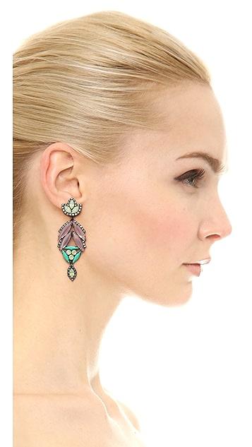 Elizabeth Cole Large Arrowhead Earrings