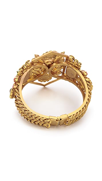 Elizabeth Cole Large Hinge Bracelet