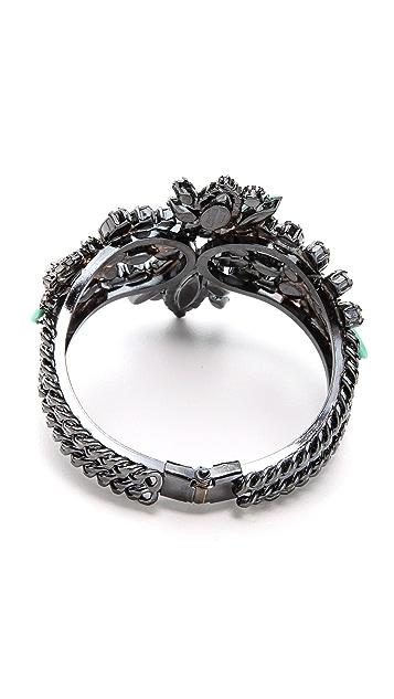 Elizabeth Cole Navette Hinge Cuff Bracelet