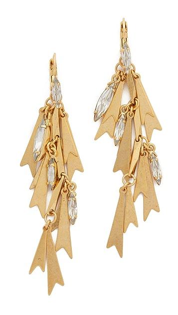 Elizabeth Cole Golden Glow Earrings
