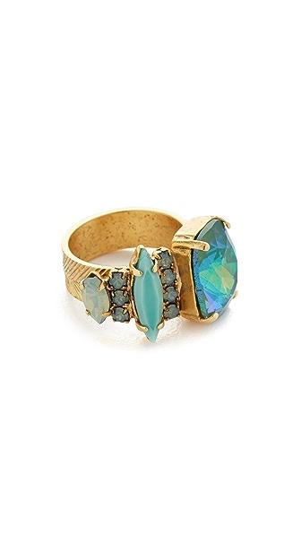 Elizabeth Cole Seafoam Stone Ring