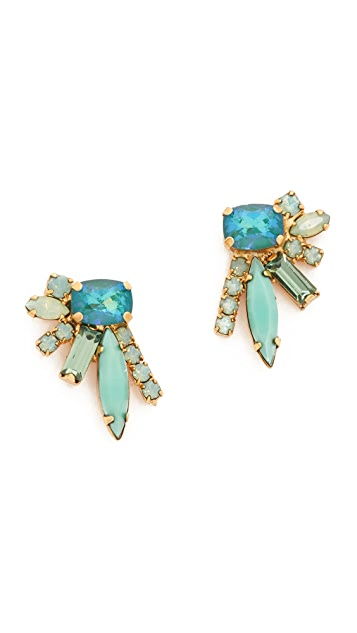 Elizabeth Cole Floating Stone Earrings