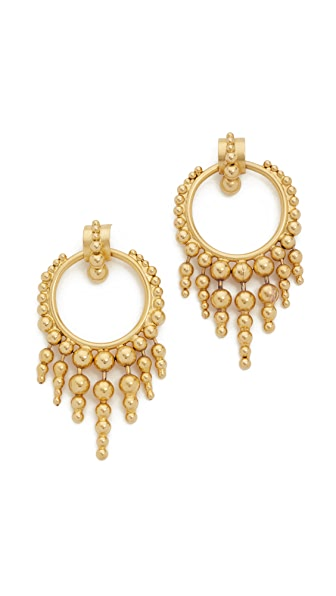 Elizabeth Cole Glowing Hoop Earrings