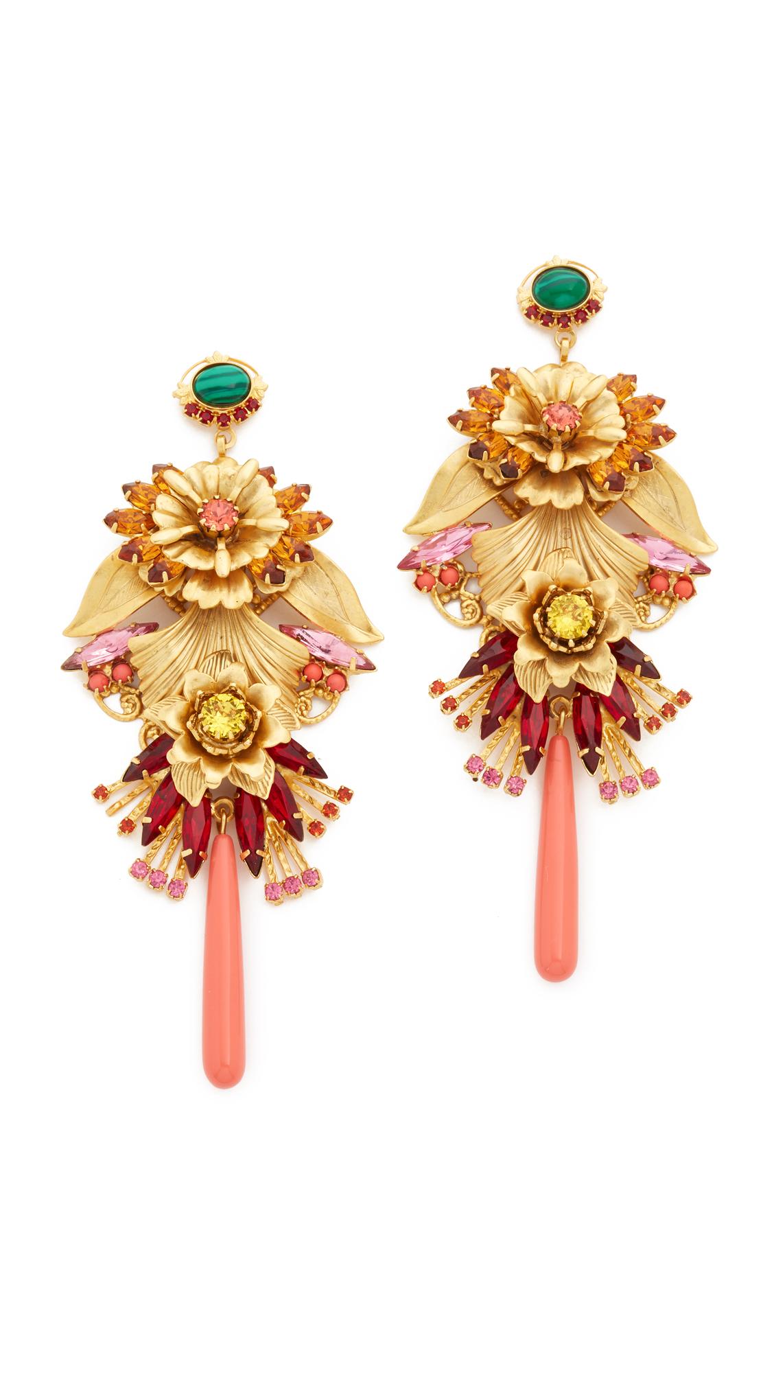 Elizabeth Cole Embellished Sunny Ruby Earrings
