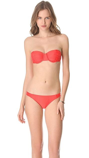 Ella Moss Solid Tab Side Bikini Bottoms