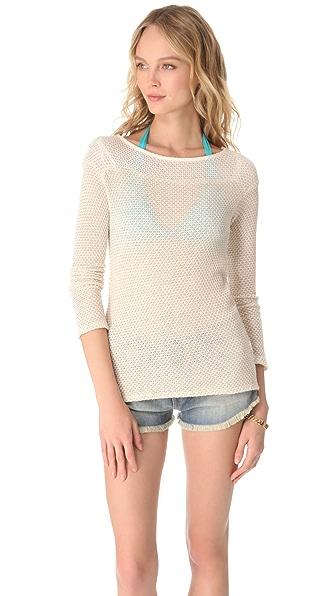 Ella Moss Spruce Long Sleeve Sweater