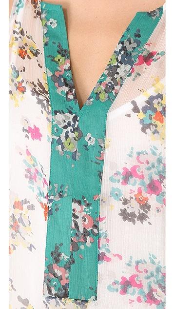 Ella Moss Citrus Floral Top