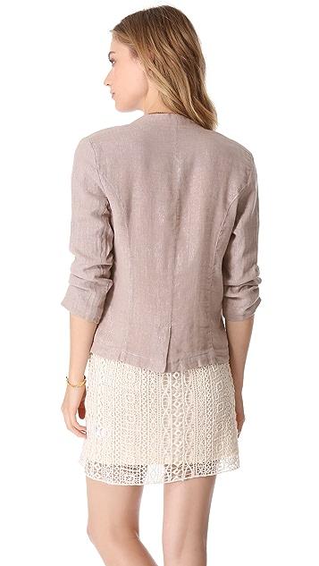 Ella Moss Shimmer Linen Blazer