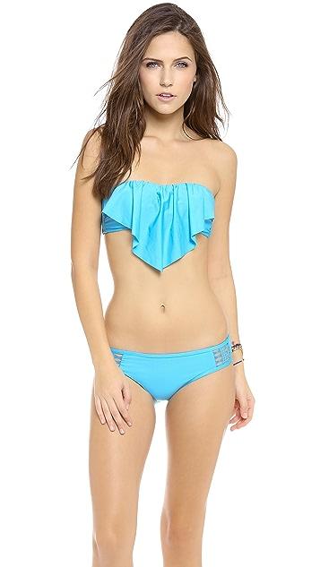 Ella Moss Ruffle Bikini Top