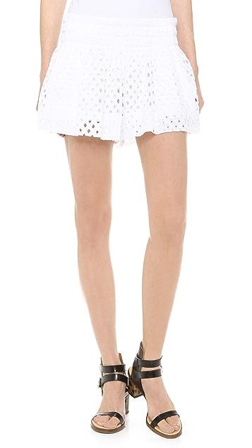 Ella Moss Tessa Eyelet Mini Shorts