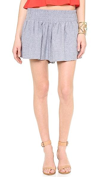 Ella Moss Tessa Chambray Mini Shorts