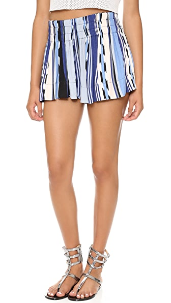 Ella Moss Surfer Stripe Mini Shorts