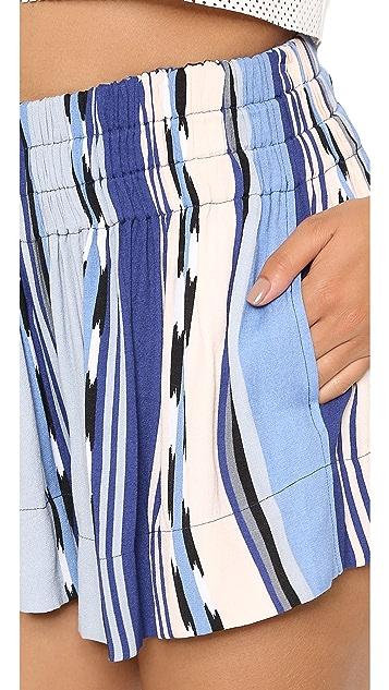 Ella Moss Surfer Stripe Mini Shorts
