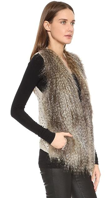 Ella Moss Penny Lane Faux Fur Vest