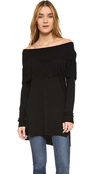Ella Moss Day Dreamer Tunic Sweater - Black