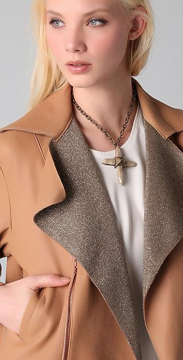 Ellery Cleopatra Leather Bomber Jacket