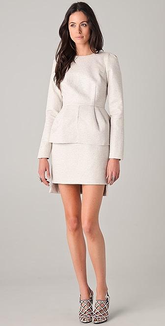 Ellery Cremaster Shell Top Dress with Peplum
