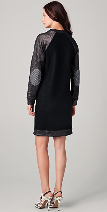 Ellery Fraternity Dress with Elbow Patches