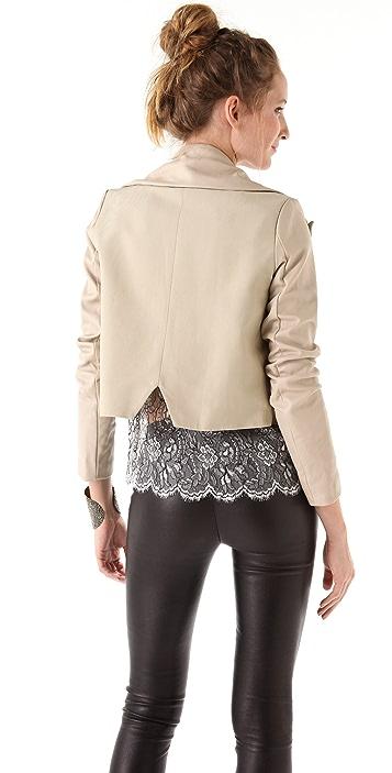 Ellery Mr. Bjork Jacket with Leather Sleeves