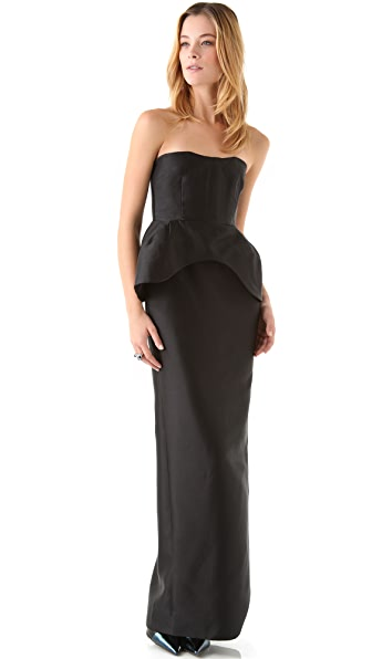 Ellery Isle of Man Peplum Gown