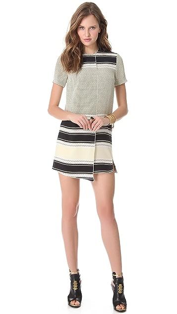 Ellery Charlotte Faux Wrap Dress
