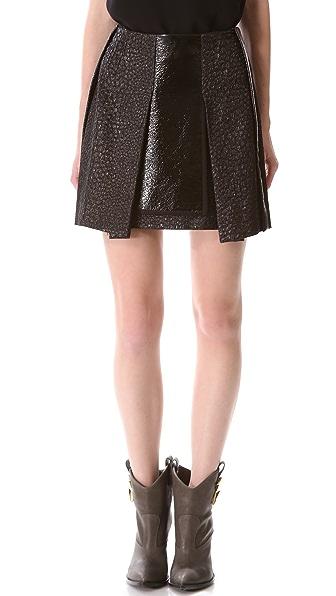 Ellery Pleat Front Miniskirt