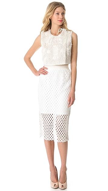 Ellery Cerle Overlay Skirt