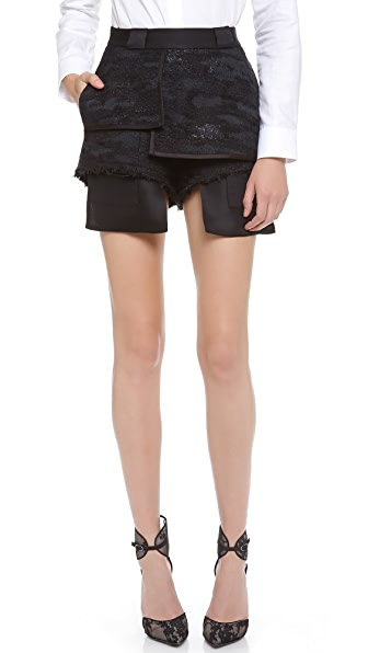 Ellery Billy Brown Signature Hot Pants