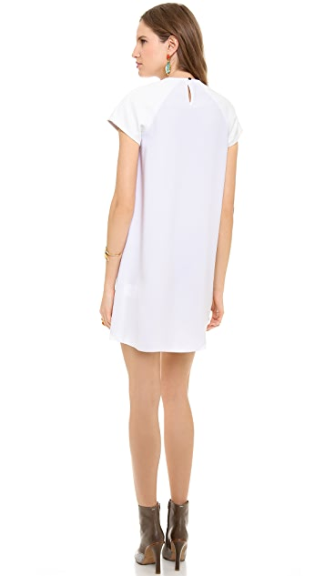 Ellery Drape Front Raglan Dress