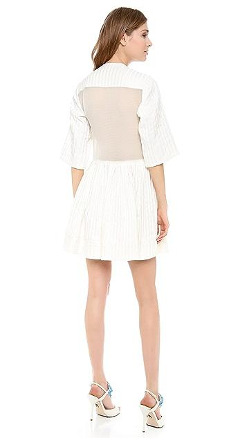 Ellery Aluminia Sheer Panel Shirtdress