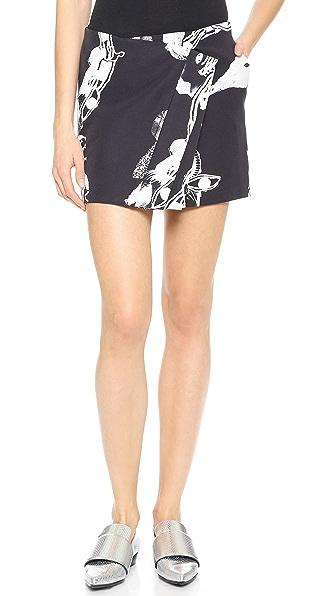 Ellery Sadie Wrap Detail Miniskirt