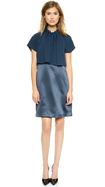 Ellery Gathered Curtain Shift Dress