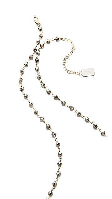 Ela Rae Yeali Y Diamond Dagger Necklace