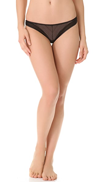 Else Lingerie Framed Zigzag Low Rise Thong