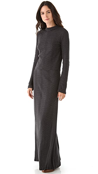 Edith A. Miller Turtleneck Open Back Maxi Dress