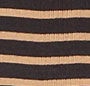 Black w/ Tan Sailor Stripe