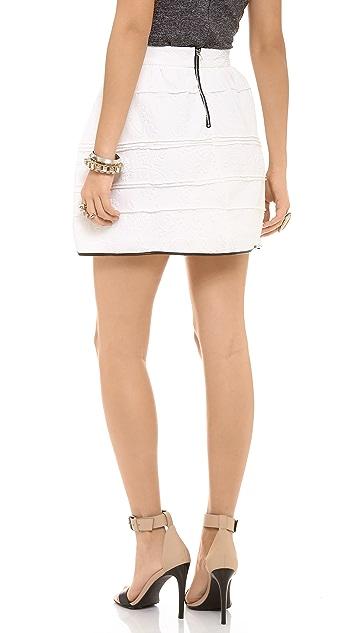 endless rose Embossed Mini Skirt