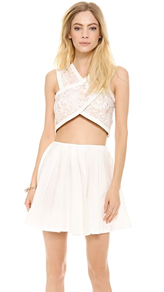 endless rose Crisscross Crop Top