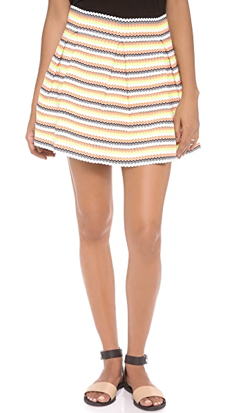 endless rose Neon Stripe Miniskirt